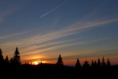 Zachód słońca na Jeleniej Łące