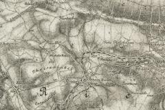 """Fragment mapy austrowęgierskiej """"Harrachsdorf"""", ok. 1910"""